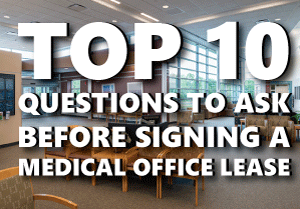 Signing a medical office lease